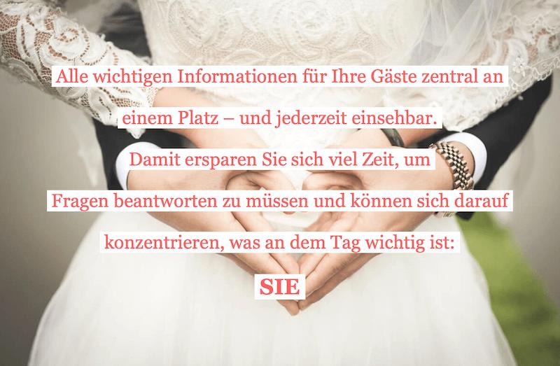 Vorteile Hochzeitshomepage
