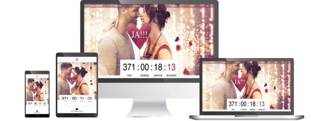 Ich pflege und aktualisiere Ihre Hochzeitshomepage